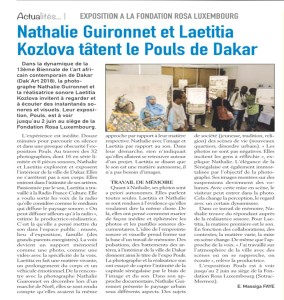 EXPOSITION A LA FONDATION ROSA LUXEMBOURG(1)